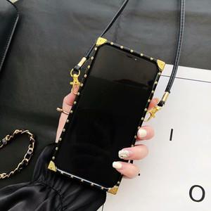 مصمم الأزياء حالات الهاتف للحصول على اي فون برو 11 X XS 8 7 PU جلد لسامسونج غالاكسي S20 الترا 9 10 PLUS ملاحظة 9 10 20 حالة دروبشيبينغ