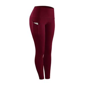 Grey Leggings Esporte Mulheres da aptidão Yoga Pants Mulheres Squat-Proof Pants Sports Yoga Workout Corredor da ginástica apertado Esporte Leggings