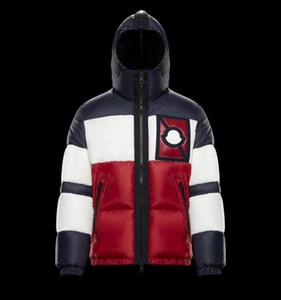 Markalı Erkekler Kış Aşağı Sıcak Ceket Tasarımcı Beyler Yüksek teknoloji Kumaşlar Fermuar Ekli Hood Parlak Naylon Aşağı Ceket