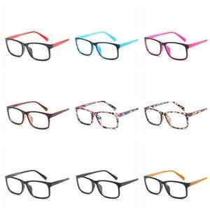 Vidrios de la manera Anti-azul Protección de las lentes de los ojos ordenador Marcos hombres de las mujeres retro con espejo plano Gafas lentes ópticas RRA1144