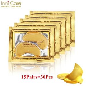 15Pairs Schönheit Korean Kosmetik Gold 24K Kristallkollagen-Augen-Schablonen-Blatt Maske Augenringe Akne Eye Patches für Augen Skin Care