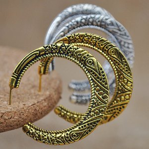 Exaggerated big earring earrings personalized electroplating all-match nightclub ring C- type earring female accessories