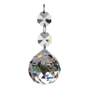 Cristal Bola de vidro candelabro Prismas Pendentes Peças Beads 30 milímetros Limpar enfeites Decoração DEC573