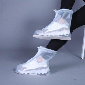 2020 Neue im Freien Regen Schuhe Boots-Abdeckungen Wasserdicht Rutschhemmende Überschuhe Galoschen Reise nach Männer Frauen