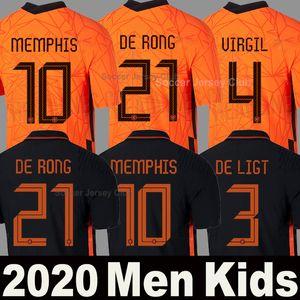 Nationalmannschaft von Niederlande mit Top-Qualität von Holland 2020 DE JONG PROMES Fußball-Trikot von Holland DE DE LIGT VAN DIJK VIRGIL BLIND STROOTMAN MEMPHIS Trikots