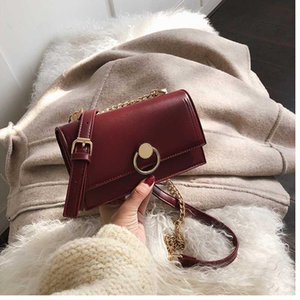 CHISPAULO Chain Small Shoulder Bag Pu Leather Korean Style Casual Flap Bag Vintage Crossbody Bags For Women Phone