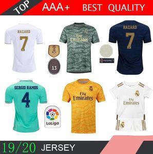 19 20 Real Madrid Fußball Jersey Benzema JOVIC Modric Sergio Ramos Bale GEFAHR 2019 2020 erwachsener Mann Kinder Kit Frau Sport Fußball Shirts