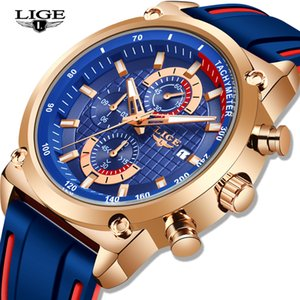 2019 Nouveau Hommes Montres Top Marque Mens Sport Montre chronographe-bracelet à quartz étanche Relogio Masculino + Box