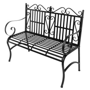 2 Seater Foldable Outdoor Patio Garden Bench Porch Chair Seat with Steel Frame Solid Construction Best Seller