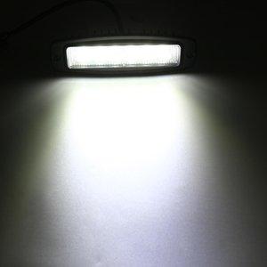10-30 6 LED Car alumínio embutida Alloy Monte Flood Luz de trabalho Bar Driving Lamp reverso