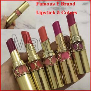 Yüksek kalite ile Drop Shipping Ünlü Y marka Mat ruj Rouge Volupte Shine ruj 3.5g 5 renk
