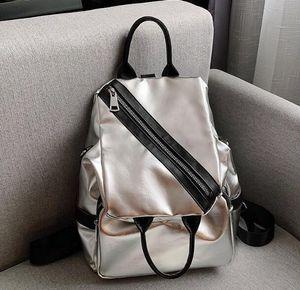 Designer Women Backpack Bag Luxury Joker Silver Travel Street Backpack Large Capacity Crossbady Single Shoulder Bag