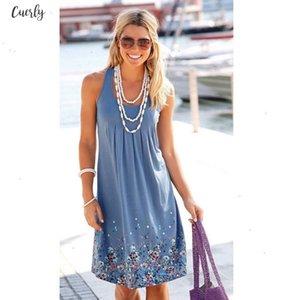 Sale Hot Women Summer Dresses Floral Printed Loose Dress Female Casual Robe Femme Ete Dress Plus Size Designer Clothes
