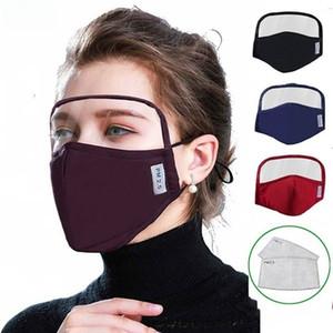 2 en 1 Coton Visage Masque Protection facial Mode anti-poussière lavable Masques réutilisables Livraison gratuite par DHL