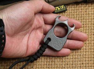 Limite بيع MAFIA CARDINAL REVENGE BUCKLE KNUCKLE DUSTER TC4 Titanium alloy معدات الدفاع عن النفس أداة الدفاع عن النفس