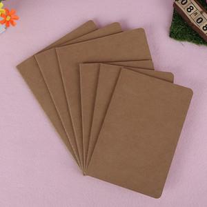 Kraft Notebook Blank Paper Cowhide Bloc-notes Livre Vintage souple Mémos Daily Kraft Copybook Cover Journal Notebook VT0023