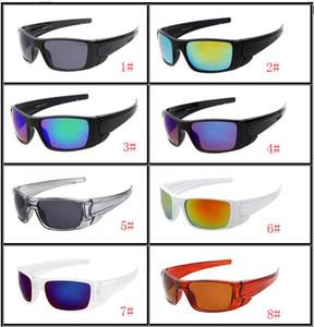 MOQ = 10 UNIDS hombre gafas de ciclismo al aire libre Dazzle lente de color mujer marco completo conducción de playa Gafas de sol Gafas Gafas 8 colores