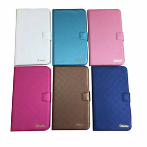 Universal PU Leather Cases for Tablet 7 8 9 10 inch Silicone TPU Stand Fold Flip Covers Built-in Card Slots For Alcatel ONE TOUCH Pixi 3 3T