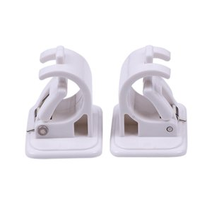 2Pcs High Quality Hanging Rod Clip Adhesive Wall Curtain Hanging Rod Clamp Hooks Shower Curtain Rod Fixed Clip Hanging Rack Hook