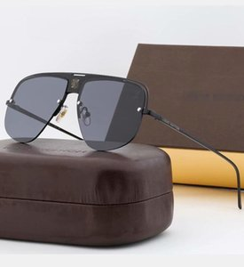 Top Sunglasses For Man Woman Erika Eyewear Brand Designer Sun Glasses Matt Leopard Gradient UV400 Lenses Box a Louìs Vuìttõn Cases