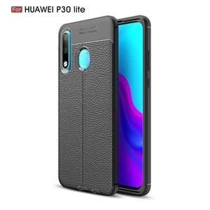 Slim Fit Ultra Thin Carbon Fiber Case for Huawei P30 Lite Leather PU Soft TPU Silicone Rubber Bumper Shockproof Phone Back Cover