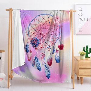 designer luxury Dream catcher throw blanket sleeping blanket flannel blanket travel sofa single double large bedding (F6)