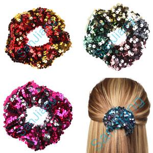 INS женщины реверсивный флип блестками резинки для волос девушки Русалка блестки блестит резинка для волос блестящая веревка хвост галстук держатели волос D3905