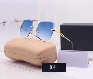 C Carta Lentes de sol Mujer Marca Gafas de sol Playa de los vidrios UV400 Modelo 04 5 Color muy calidad con la caja