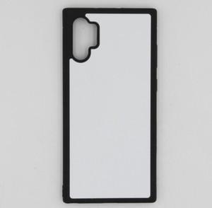 2D Сублимация TPU + ПК Резиновый крышка случая кожи для Samsung Note 10 Plus случаев с тарелками и клеевых 100шт