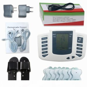 Wholesale Electrical Stimulator Full Body Relax Muscle Digital Massager Pulse TENS Acupuncture with Therapy Slipper 16 Pcs Electrode Pads