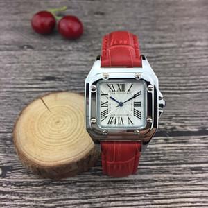 Nouveau couple bracelet en cuir femmes de luxe Mode cadre Argent Quartz classique montre-bracelet pour les dames meilleurs Relógios cadeaux Saint-Valentin
