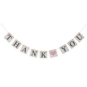 Wedding Party Buntings Banner Thank You Letters Garland Thanksgiving Party Room Decoration Supplies