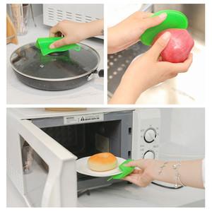 Limpieza de la cocina de silicona Lavado Depuradores Multifuncional de silicona esponja para lavar platos cepillo de frutas Cepillos Anti-caliente en forma de cojín redondo HHA1015