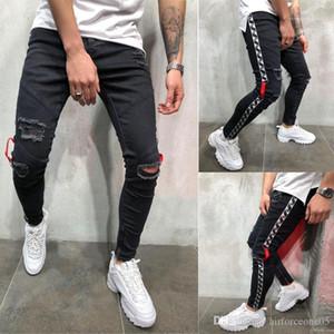 Jean Pantalones Mens siyah 19ss Biker Jeans Ripped sıkıntılı Bahar yaz kalem pantolon Hombres
