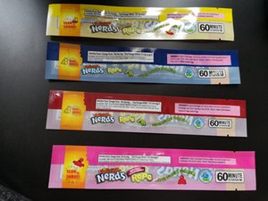 Nerds Rope Bag aus Kunststoff Gummy Candy Bag Edibles leeren Blumen Verpackung Kleinpaket Geruch Proof Mylar-Tasche 4 Styles