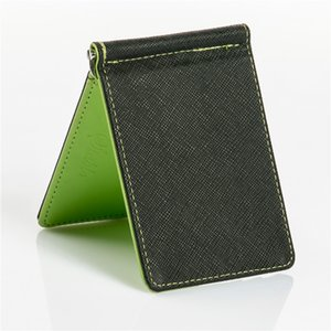 2020 Men Wallet Short Skin Wallets Purses Fashion Synthetic Leather Money Clips Sollid Thin Wallet