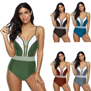 Women Summer Swimsuit Sexy Women Designer Swimwear Plus Size Fashoin Panelled Slim Fit One Piece Bikini