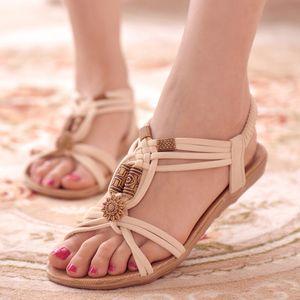 KUIDFAR Kadın Ayakkabı 2019 Yaz Kadın Sandalet Moda Casual Ayaklı Bayanlar Sandalet Ayakkabı Sandalias Mujer Artı boyutu 36-42 LY191203 Floplar