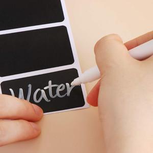 120pcs roll Waterproof Chalkboard Kitchen Spice Label Stickers Home Jam Jar Bottle Tags Blackboard Labels Stickers Marker Pen