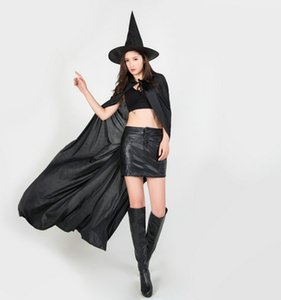 2019 New Halloween Cosplay Party Witches Gothic Beauties With Hat Suit Woman Pattern Costume Halloween Scare Performance Clothes Wear Suit
