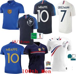 Fast Ship 2019 aniversário futebol do jérsei do futebol homem desgaste camisas formação 100 France Mbappé GRIEZMANN Pogba jerseys kit maillot de pé