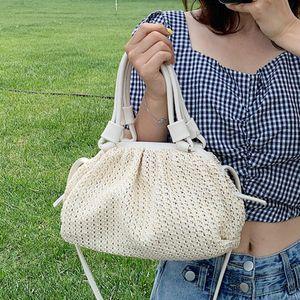 Elegant Female Large Woven Tote bag 2020 Fashion New High-quality Straw Women's Handbag Travel Shoulder Messenger Bag