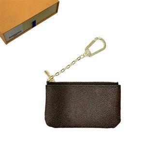 Key Portafogli Portamonete Portafoglio Holder Key Card Pouch Mens delle donne di carta di cuoio Borse Catena Mini Portafogli borsa della moneta della borsa della frizione 21 6953