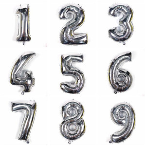 40 inch Free combination number foil mylar helium balloon Colorful foil helium number balloon for wedding decorations Event party supplies