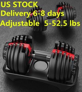 US STOCK, New Gewicht Einstellbare Hantel 5-52.5lbs Fitness Workouts Dumbbells Ton Ihre Stärke und bauen Sie Ihre Muskeln
