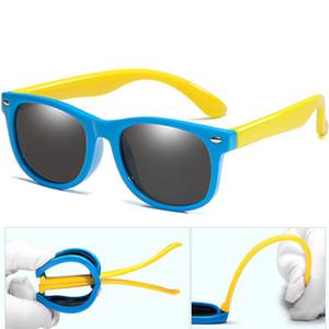 Lungo Keeper New Kids gel di silice sicuro gli occhiali da sole delle ragazze dei ragazzi infantile del bambino Moda Occhiali UV400 Eyewear Bambino Shades Occhiali Infantil