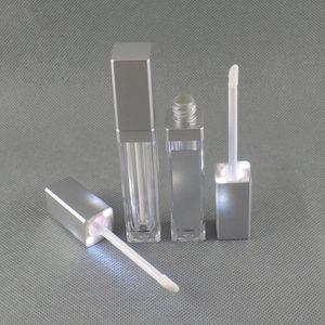 LED 조명 거울 클리어 화장품 컨테이너 메이크업 도구와 핫 7ml 광장 립글로스 튜브 빈 메이크업 립 글로스 병 DHL