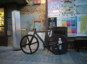 알루미늄 포크 4 개 스포크 마그네슘 합금 RIM 도로 자전거 고정 기어 자전거 단일 속도 Fixie 자전거 도시 트랙 자전거 프레임