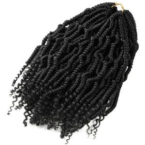 Bomb Twist Crochet Braids Synthetische Haarverlängerung Ombre Spring Twist Kinky Curly Kanekalon Für Afro-Frauen