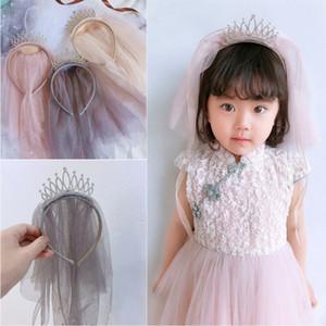 Pudcoco Flower Kid Girls Princess Crown Headwear Veil Party Wedding Hair Headpiece Headband